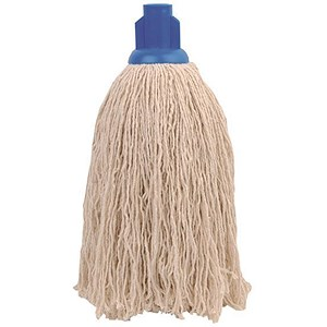 Image of Robert Scott & Sons Rough Surface Mop Head / Socket / PY Yarn / 16oz / Blue / Pack of 10
