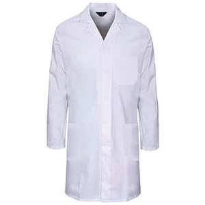 Image of Supertouch Lab Coat / Polycotton / 3 Pockets / White / XXXL