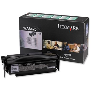 Image of Lexmark 12A8420 Black Laser Toner Cartridge