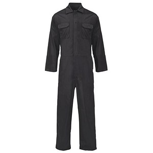 Image of Supertouch Basic Coverall / PolyCotton / Black / XL