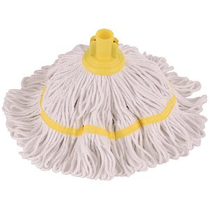 Image of Robert Scott & Sons Hygiemix T1 Socket Mop Cotton & Synthetic Colour-coded 200g Yellow Ref 103062YELLOW