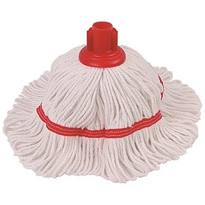 Image of Robert Scott & Sons Hygiemix T1 Socket Mop Cotton & Synthetic Yarn Colour-coded 200g Red Ref 103062RED