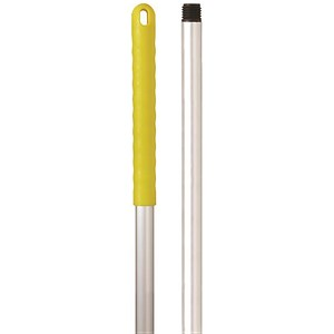 Image of Robert Scott & Sons Abbey Hygiene Mop Handle Aluminium Colour-coded Screw Fitting 137cm Yellow Ref YYAY07
