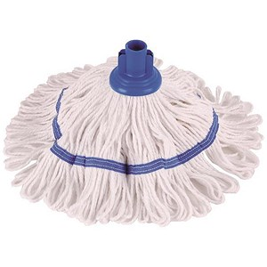 Image of Robert Scott & Sons Hygiemix T1 Socket Mop Cotton & Synthetic Yarn Colour-coded 200g Blue Ref YLTB20