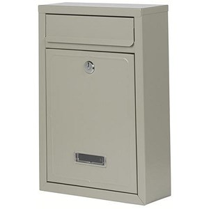Image of Mail Box Front-loading Rustproof 2 Keys W220xD81xH320mm Grey