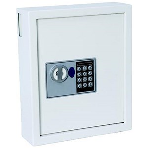 Image of Electric Key Safe Programmable Lock Wall Mounted with Fixing Kit 60 Keys 9kg
