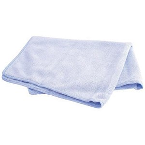 Image of Maxima Microfibre Glass Cloths / Anti-bacterial / Blue / Pack of 10