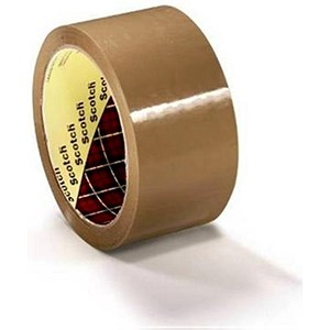 Image of Scotch Packaging Tape / Medium-duty / Printable / Brown / Pack of 36 Rolls