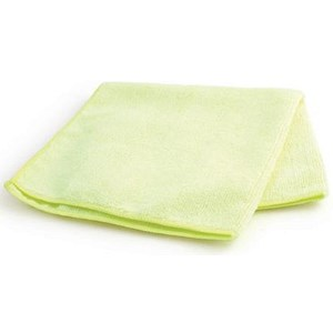 Image of Maxima Microfibre Glass Cloths / Anti-bacterial / Yellow / Pack of 10