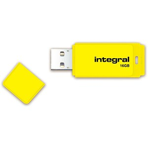 Image of Integral Neon 2.0 USB Drive / 16GB / Yellow