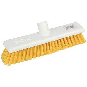 Image of Robert Scott & Sons Abbey Hygiene Broom Head Soft Washable 12in Yellow Ref WLMEYE10L