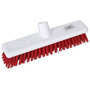 Image of Robert Scott & Sons Abbey Hygiene Broom Head Hard Washable 12in Red Ref 102903RED