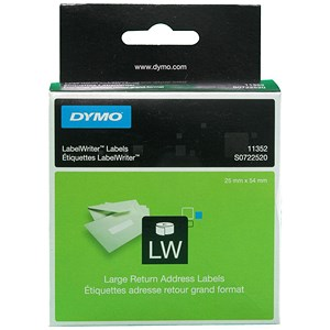 Image of Dymo LabelWriter Labels International White 25x54mm Ref 11352 S0722520 [Pack 500]