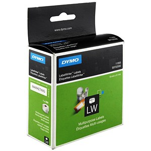 Image of Dymo LabelWriter Labels Multipurpose White 19x51mm Ref 11355 S0722550 [Pack 500]