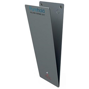 Image of P-Wave P-Plate Door Push Plate Kit / 12 Months Protection / Antibacterial / Life Silver