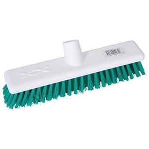 Image of Robert Scott & Sons Abbey Hygiene Broom Head Hard Washable 12in Green Ref WLHTGN10L