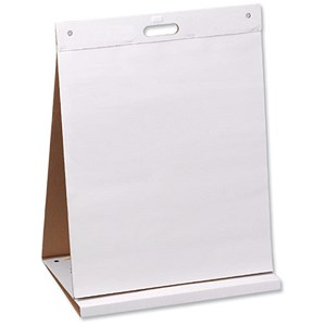 Image of Table Top Meeting Chart Pad - 20 Sheets & Dry Erase Board