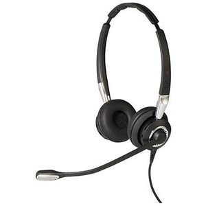 Image of Jabra BIZ 2400 II Duo Headset with Noise-Cancelling Microphone Black/Grey Ref 2409-820-204