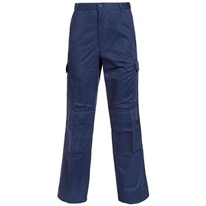 Image of Combat Trousers / Velcro Pockets / Waist: 34in, Leg: 33in / Navy