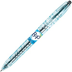 Image of Pilot Begreen B2P Recycled Rollerball Pen / Retractable / 0.7mm Tip / 0.39mm Line / Black / Pack of 10