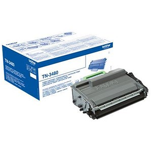 Image of Brother TN3480 Laser Toner Cartridge High Yield Page Life 8000pp Black Ref TN3480