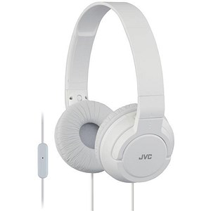 Image of JVC On Ear Headphones Built-in Mic and Remote Foldable White Ref HA-SR185-W-E