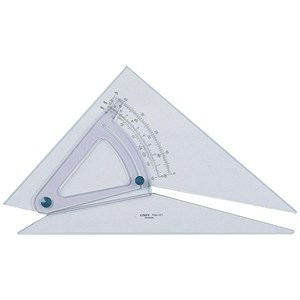 Image of Linex Set Square / 250mm / Clear