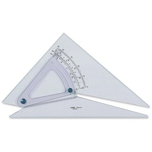 Image of Linex Set Square / 300mm / Clear