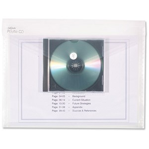 Image of Snopake PolyFile Electra Wallet Files with CD Pocket / Polypropylene / A4 / Clear / Pack of 5