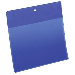 Image of Durable Neodym Magnetic Document Sleeves / A5 / Portrait / Blue / Pack of 10