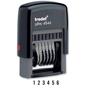 Image of Trodat Printy 4846 Self-inking 6-digit Numberer Stamp