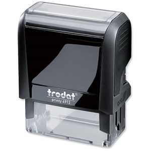 Image of Trodat Printy VC/4912 Self-Inking Custom Stamp - 46x18mm (Up to 5 Lines of Text)