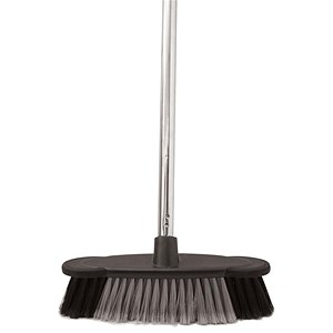 Image of Soft Bristle Broom Indoor Chrome Handle - length: 1.2m