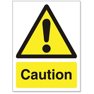 Image of Stewart Superior Caution Sign Self Adhesive Vinyl 150x200mm Ref WO125SAV