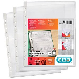 Image of Elba A4 Heavy-duty Expanding Pockets / with Flap / Pack of 5
