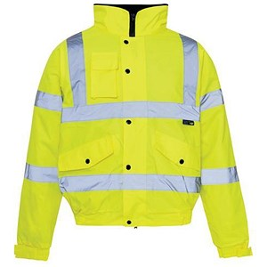 Image of High Visibility Storm Bomber Jacket / Large / Yellow
