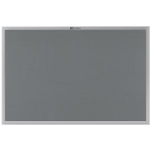 Image of Nobo Euro Plus Noticeboard / Aluminium Trim / W924xH615mm / Grey