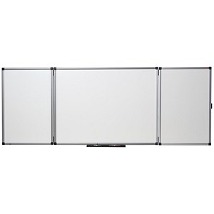 Image of Nobo Confidential Drywipe Board System / Lockable / 3 Boards for 5 Surfaces / W1200xD900mm