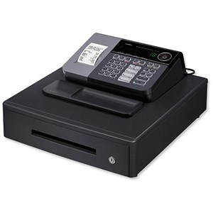 Image of Casio Cash Register Antimicrobial 7 Segment 8 Digit 500 PLUs 20 Departments W410xD450xH205mm Ref SE-S10MD