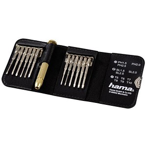 Image of Hama Mini Screwdriver 12 Piece Kit Ref 039694