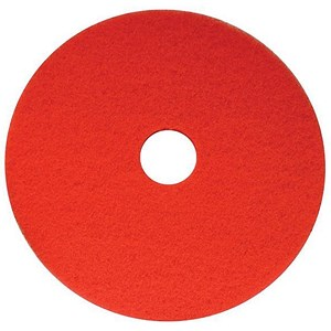 Image of Maxima 15in Floor Polish Pads / Red / Pack of 5