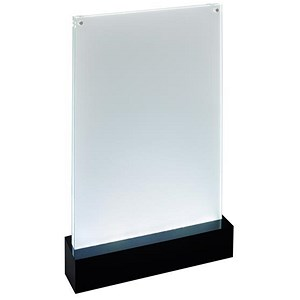 Image of Sigel Table-top Display Frame LED Double-sided Luminous A4 Clear/Black Ref TA420