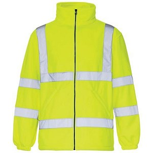 Image of High Visibility Fleece Jacket / Medium / Yellow