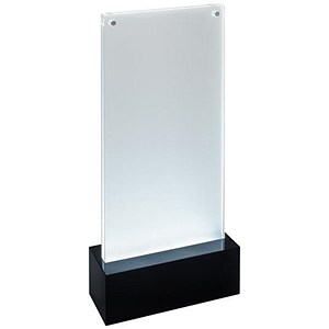 Image of Sigel Table-top Display Frame LED Double-sided Luminous DL Clear/Black Ref TA424