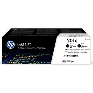 Image of Hewlett Packard[HP] No.HP201XL Toner Cartridge High Yield Page Life 700pp Black Ref CF400XD [Pack 2]