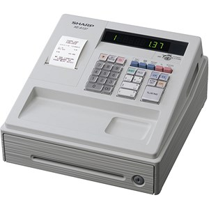 Image of Sharp XE-A137 Cash Register Thermal Print 200PLUs 8-departments Black Ref XEA137BK