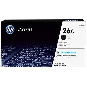 Image of Hewlett Packard [HP] No.26A Laser Toner Cartridge Page Life 3100pp Black Ref CF226A