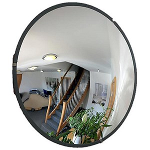 Image of Indoor Security Mirror Durable Polycarbonate Steel Mounting Plates 600mm