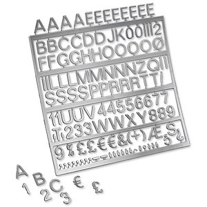 Image of Nobolux Spare Characters Assorted for Letter Boards / 19mm / Chrome-look / Pack of 250