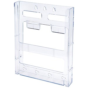 Image of Literature Holder / Connectable / Modular / Wall-Mountable / A4 / Clear